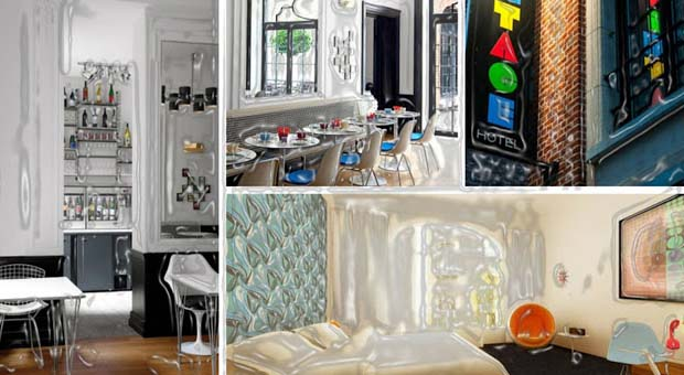 The vintage hotel is so dynamic that you will hop! You will find all over the place, the designs of different shades that look like of sixties from art, wallpapers and furniture. The airy sleeping cabin is the main theme of this hotel.    Though it is an old hotel of 1958, however, it is completely refurbished with sitting area, AC both cold and hot, a plasma television, Wi-Fi facility, a toilet, a shower and a convenient bed.