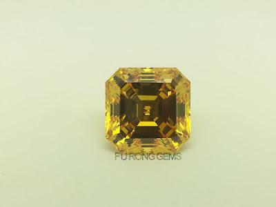 Asscher-Cut-Cubic-Zirconia-Golden-Yellow-Colored-Gemstones-China