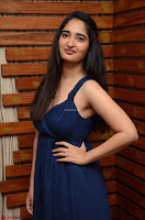 Radhika Mehrotra in a Deep neck Sleeveless Blue Dress at Mirchi Music Awards South 2017 ~  Exclusive Celebrities Galleries 047.jpg