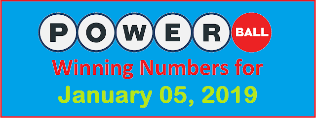 PowerBall Winning Numbers for Saturday, 05 January 2019