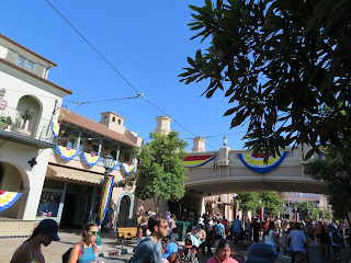 Buena Vista Street Monorail Bridge During Pixar Fest Disney California Adventure