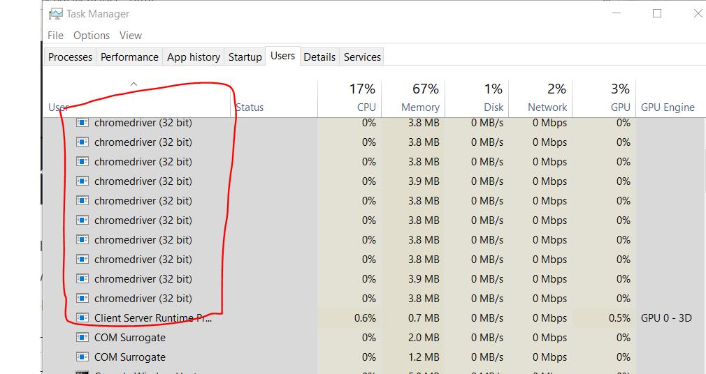 How do I kill the Chrome driver processor by using selenium   SKPTRICKS