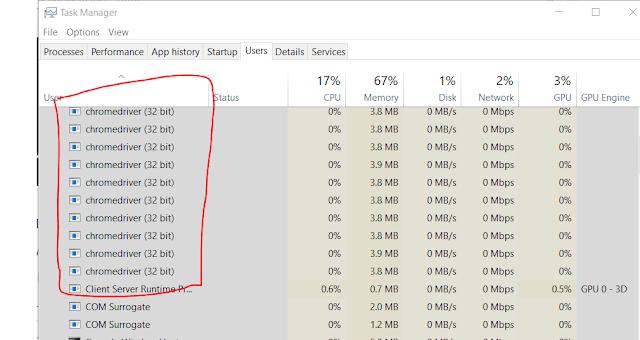 How do I kill the Chrome driver processor by using selenium