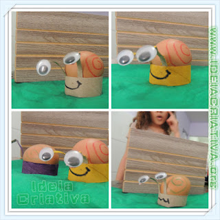 Caracol de rolo de papel reciclagem