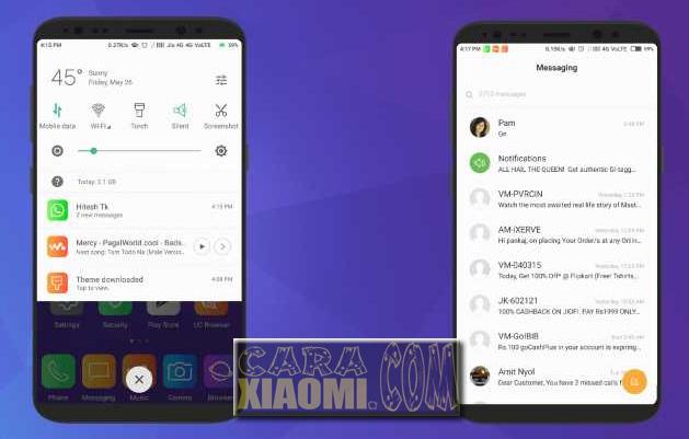 Download Tema Samsung S8 Pro Untuk Xiaomi MIUI Mtz Terbaru