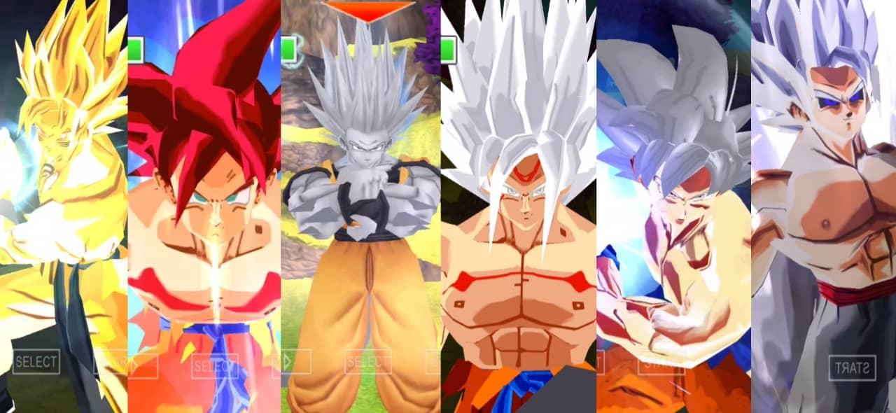 Goku all forms and Transformation Dragon Ball