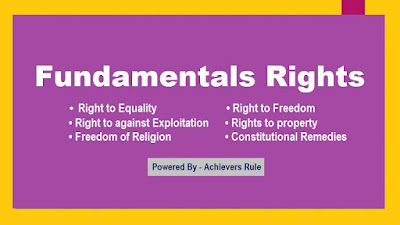 Polity Notes: Fundamentals Rights for SSC, IB, Railway