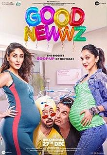 Good Newwz (2019 film) Hindi Full Movie DVDrip Download Kickass