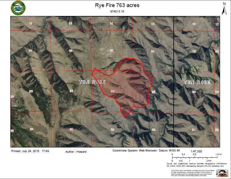 Blue Mountain Fire Information