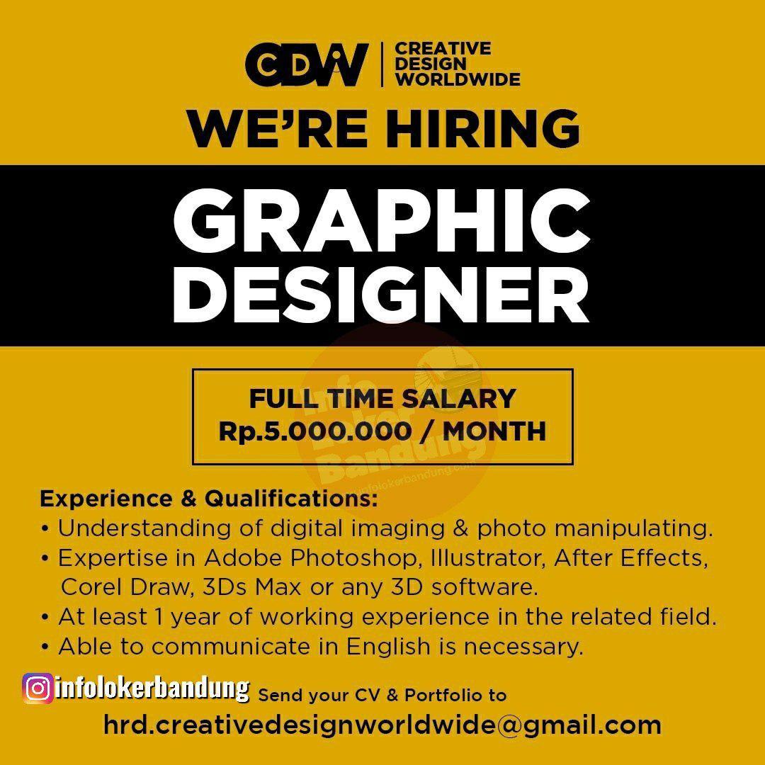 Lowongan Kerja Creative Design World Wide Bandung Oktober 2019