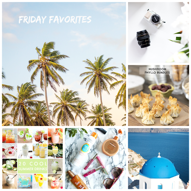 Ioanna's Notebook - Friday Favorites #15 - Photography tips for shooting in the summer - Phyllo mushroom bandles - 20 cool summer drinks - Summer drugstore beauty buys - Santorini quick travel guide