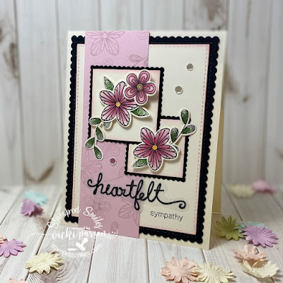 Heartfelt sympathy by Vicki features Beautiful Blossoms by Newton's Nook Designs; #newtonsnook