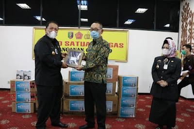 Pemprov Lampung Terima Bantuan Alat Kesehatan Dari PT. Bank J Trust