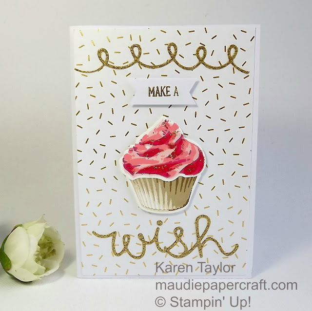 Stampin' Up! Sweet cupcake card