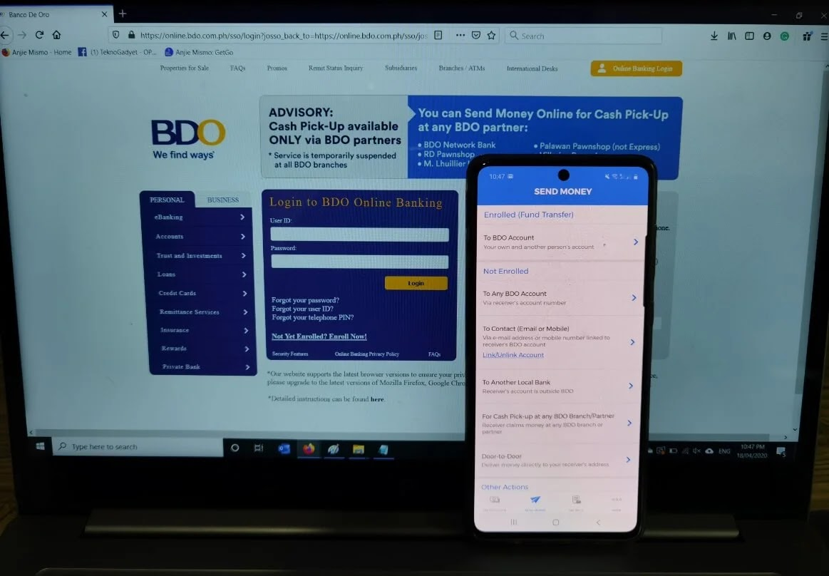 How to Send and Receive Money Easily Through BDO Cash Pick-Up Anywhere Feature