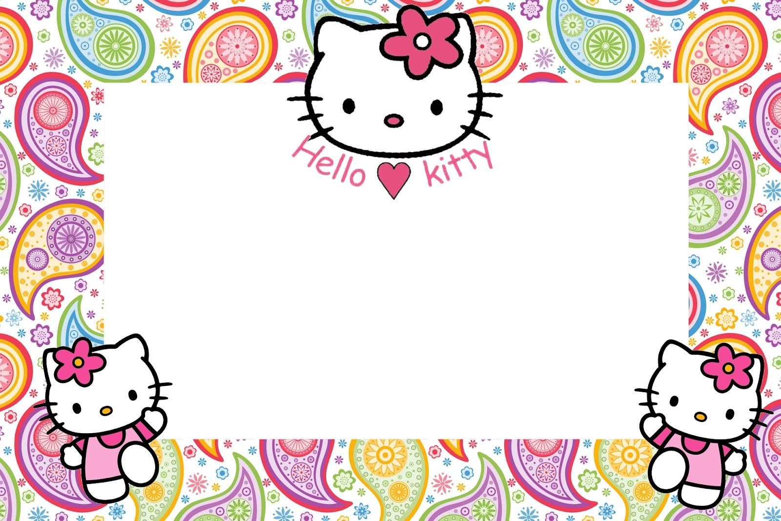 hello kitty party free printable invitations  oh my