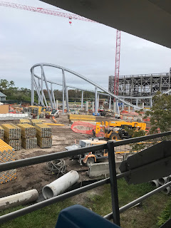 Tron Lightcycle Coaster Construction Disney World