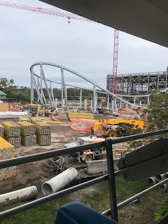 Tron Lightcycle Roller Coaster Construction December 2019