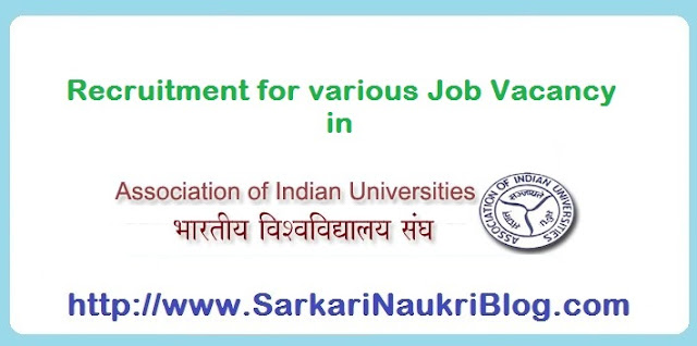 Naukri Vacancy Recruitment AIU