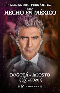 Concierto de Alejandro Fernández en Colombia