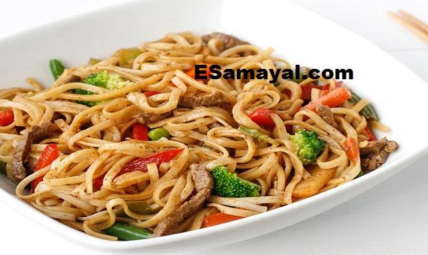 பேபி கார்ன் வெஜிடேபிள் நூடுல்ஸ் செய்வது | Baby Corn Vegetable Noodles Recipe !