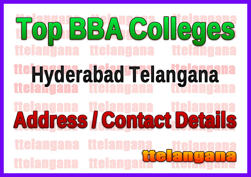 Top BBA Colleges in Hyderabad Telangana