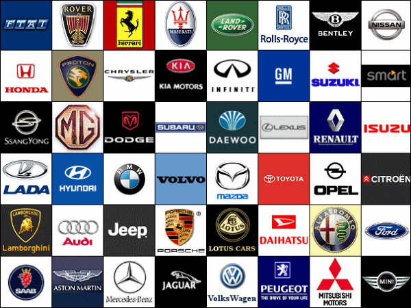 Car Logos And Names List