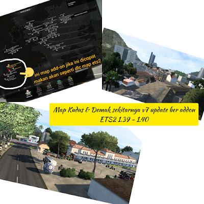 Map Kudus & Demak sekitarnya [MKDS] v7 Ber addon ETS2 1.39 - 1.40