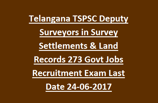 Telangana TSPSC Deputy Surveyors in Survey Settlements & Land