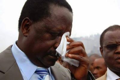 Raila Odinga withdraws. PHOTO | Courtesy