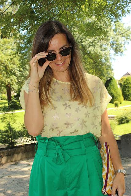 look d'été, jupe culotte zara escarpins minelli les petites bulles de ma vie