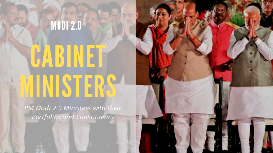 Updated Cabinet Ministers of India 2019 PDF List – PM Modi 2 0