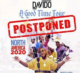Davido cries out after postponing tour, says coronavirus is making him lose money