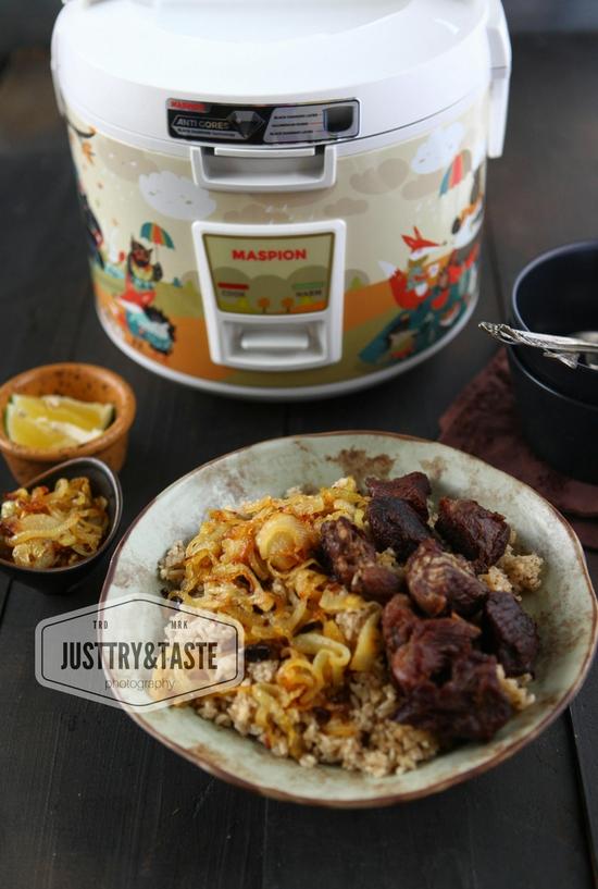 Resep Nasi Kebuli Rice Cooker : resep, kebuli, cooker, Resep, Kebuli, Daging, Dengan, Magic, Cooker, Maspion, Black, Diamond, Taste