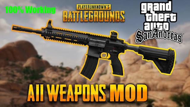 GTA San Andreas PubG Weapons Pack