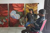 """Wartawan Tebo Ikut Pameran Lukisan """"Rekontruksi 2"""" di Jambi"""