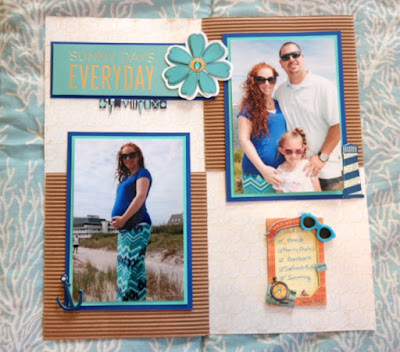 Family Beach Vacation Scrapbook Page Idea