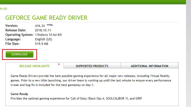 تحميل تعريف كرت الشاشة NVIDIA على جهازك