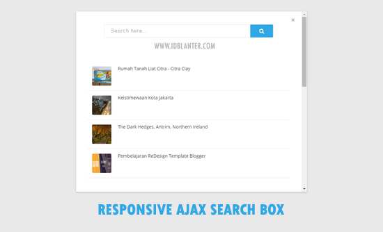 Responsive Ajax Search Box and Result