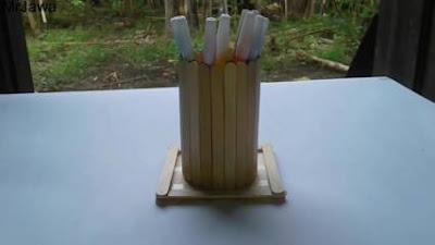 Cara Membuat Tempat Pensil dari Stik Es Krim