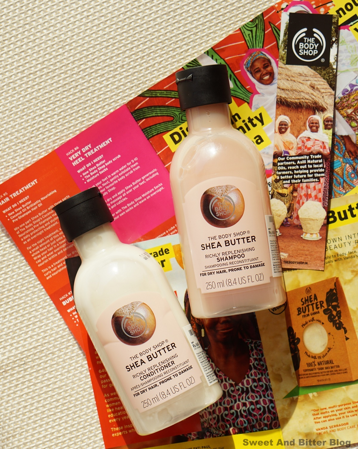 The Body Shop Shea Moisture Shampoo Conditioner Review India