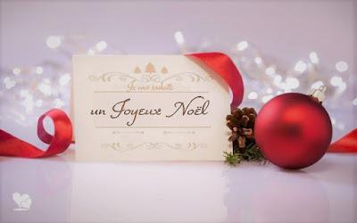 Carte : Je vous souhaite un joyeux Noël