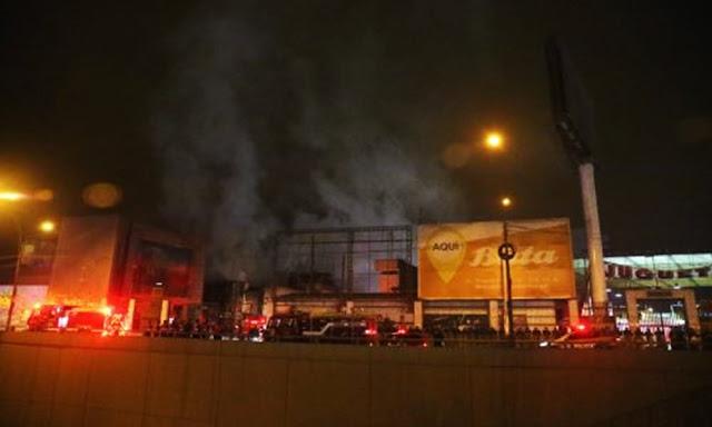 Incendió en mercado Huamantanga