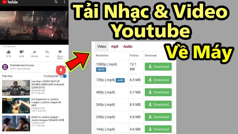 Tải Video Nhạc Từ YTB về Điện Thoại