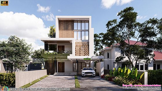Modern contemporary home front view design