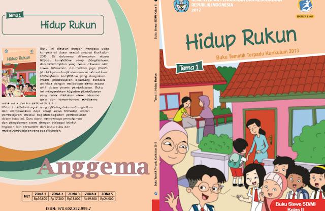 File Pendidikan Download Buku Siswa dan Buku Guru SD Kelas 2 Kurikulum 2013 revisi 2018