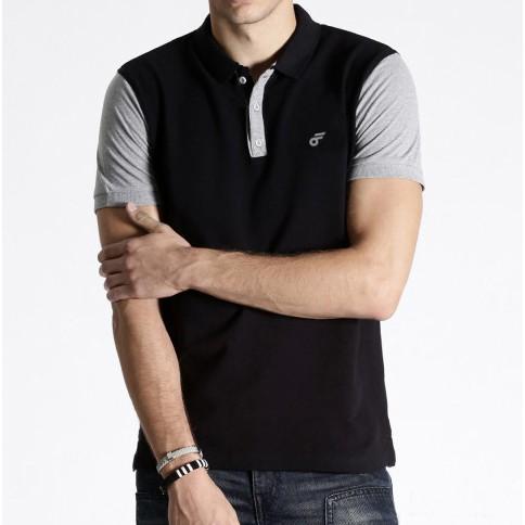 Kaos Polo Shirt Pria Kerah Premium Follback Diamond Black