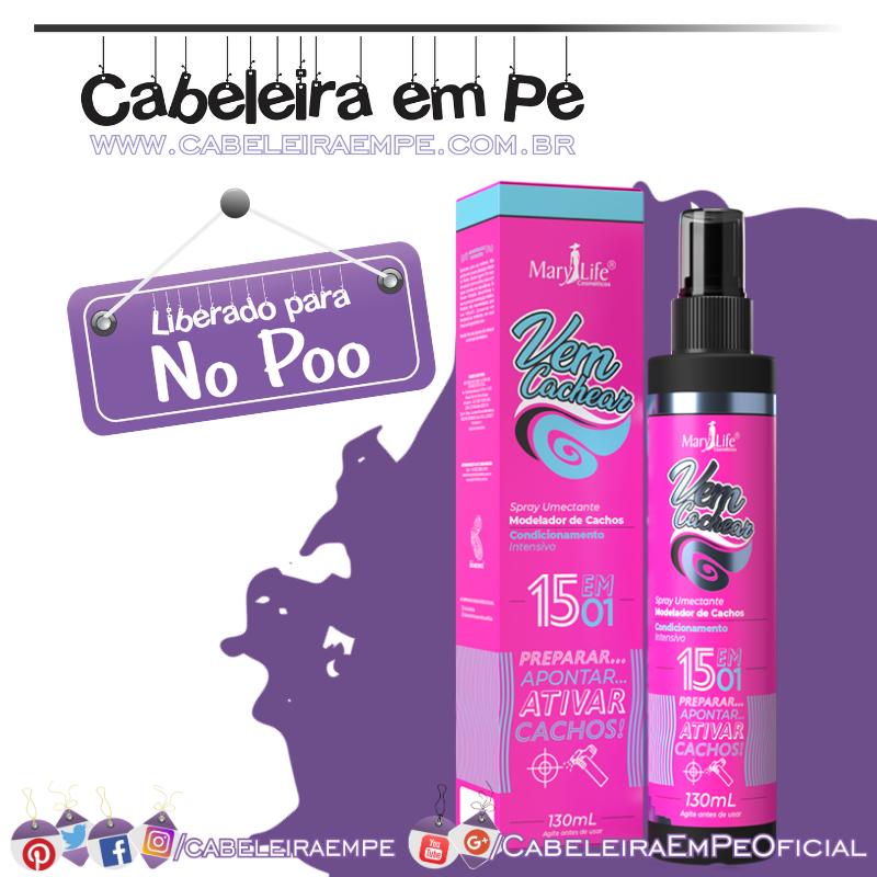 Spray Umectante Vem Cachear - Mary Life (No Poo)