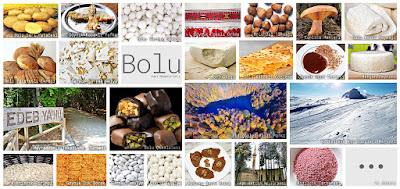 Bolu'nun meşhur şeylerini gösteren resimlerden oluşan kolaj