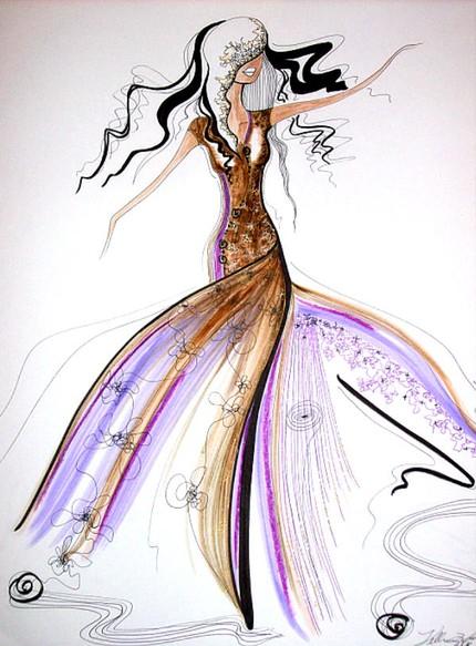Violet Fashion Art